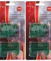600x groene kerstbalhaakjes kerstboomhaakjes 6 3 cm trend