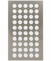 600x witte ronde sticker etiketten 8 mm trend