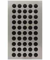 600x zwarte ronde sticker etiketten 8 mm trend