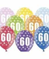 60e verjaardag ballonnen met sterretjes trend