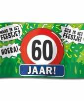 60e verjaardag straatvlag 100x150 cm trend