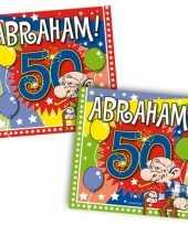 60x 50 jaar abraham leeftijd feest servetten 25 x 25 cm trend