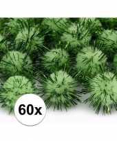 60x appel groene knutsel pompons 20 mm trend