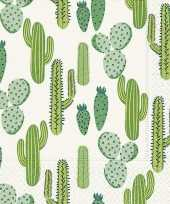 60x cactus thema servetten 33 x 33 cm trend