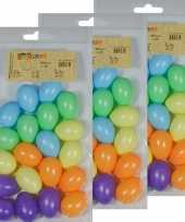 60x gekleurde kunststof eieren decoratie 4 cm hobby trend