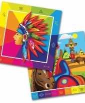 60x indianen western themafeest servetten 33 x 33 cm papier trend