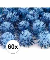 60x lichtblauw knutsel pompons 20 mm trend
