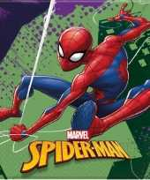 60x marvel spiderman themafeest servetten 33 x 33 cm trend