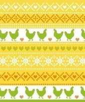 60x pasen servetten kippen geel oranje groen 33 x 33 cm trend