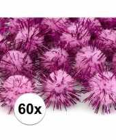 60x roze knutsel pompons 20 mm trend