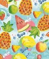 60x tropisch fruit zomer thema servetten 33 x 33 cm trend