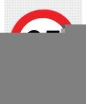 65 jarige verkeerbord decoratie pakket trend