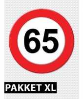 65 jarige verkeerbord decoratie pakket xl trend