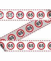 65e verjaardag markeerlint stopbord trend