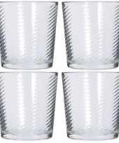 6x drinkglazen waterglazen 250 ml trend