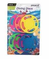 6x gekleurde duikringen duikspeelgoed trend