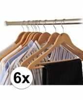 6x houten kledinghangers trend