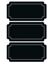 6x krijtbord voorraadkast etiketten stickers rechthoekig trend