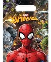 6x marvel spiderman themafeest uitdeelzakjes 16 x 23 cm trend