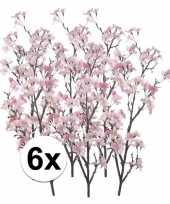 6x namaak appelbloesem roze 104 cm trend