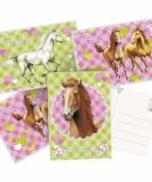 6x paarden themafeest uitnodigingen kaarten trend