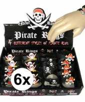 6x piraten armbandjes voor kinderen trend