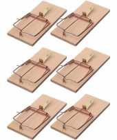 6x rattenvallen rattenklemmen 17 cm ongediertebestrijding trend