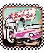 6x rock n roll bordjes 23 cm trend