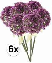 6x roze paarse sierui kunstbloemen 70 cm trend