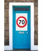 70 jaar verkeersbord deurposter a1 trend