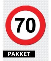 70 jarige verkeerbord decoratie pakket trend