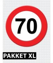 70 jarige verkeerbord decoratie pakket xl trend