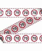 70 markeerlint met stopborden trend