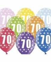 70e verjaardag ballonnen met sterretjes trend