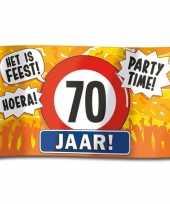 70e verjaardag straatvlag 100x150 cm trend