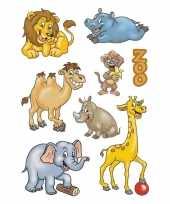 72x dierentuin dieren stickers trend