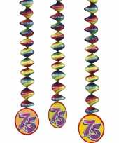 75 jaar decoratie rotorspiralen 6x stuks trend