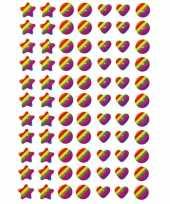 77x regenboog figuren stickers met 3d effect met zacht kunststo trend