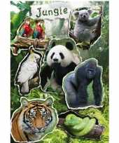 7x jungle dieren stickers met reflecterende folie effect trend