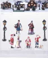7x kerstdorp figuren poppetjes type 2 trend