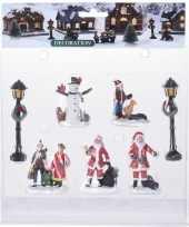 7x kerstdorp figuren poppetjes type 3 trend
