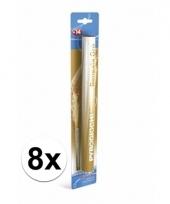 8 gouden bengaalse fakkels 36 cm 60 sec trend
