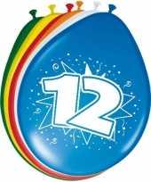 8 stuks ballonnen 12 jaar trend