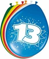 8 stuks ballonnen 13 jaar 30 cm trend