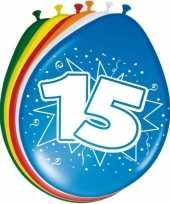 8 stuks ballonnen 15 jaar trend