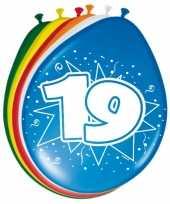 8 stuks ballonnen 19 jaar trend