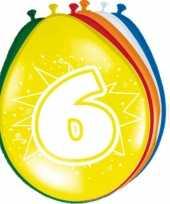 8 stuks ballonnen 6 jaar trend