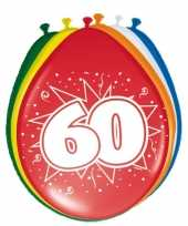 8 stuks ballonnen 60 jaar trend