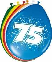 8 stuks ballonnen 75 jaar trend