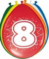 8 stuks ballonnen 8 jaar trend